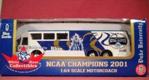 Duke Blue Devils Motorcoach Bus1:64 scale NCAA Chaampions 2001