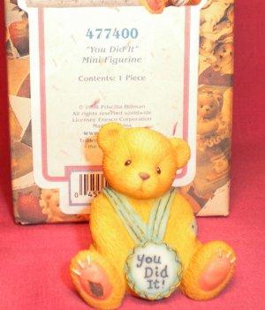 "Cherished Teddies ""YOU DID IT"" Mini Figurine 1998"