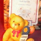 "Cherished Teddies ""GOOD JOB"" Mini Figurine 1998"