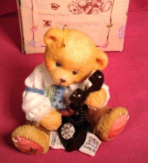 Cherished Teddies R. Harrison Hartford 1996 Symbol of MemBEARship Figurine