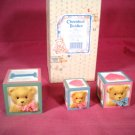 "Cherished Teddies ""Love Letters Blocks"" 1996"