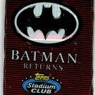 (5) Packs Batman Returns Cards Topps Stadium Club