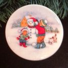 "Hallmark #5 ""Let It Snow!"" Ornament Plate 1991"