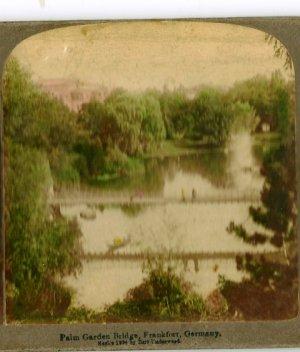 1884 Palm Gardens Bridge Frankfort, Germany Postcard