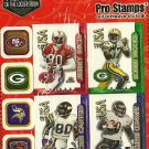 NFC Wide Receivers Pro Stamps Heroes of the Locker Room 1998