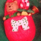 Enesco Miniature Ornament 1991 COMFY, COZY CHRISTMAS