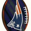 New England Patriots Football Shaped Sticker