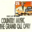 First Day Cover COUNTRY MUSIC w/29 cent stamp 1993