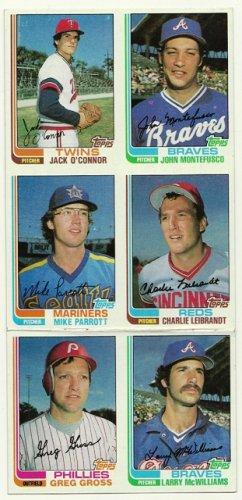 1982 Topps Baseball Uncut Sheet  GREG GROSS MIKE PARROTT
