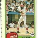 1981 Topps Baseball Uncut Sheet  GEORGE FOSTER DENNIS ECKERSLEY
