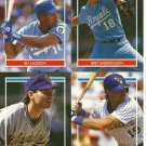 4 X-Large Stickers Jackson Saberhagen PAUL MOLITOR ROBIN YOUNT HOF Hall of Fame 1990