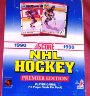 1990 Score NHL Hockey BOX 15 cards per pack 1st Edition