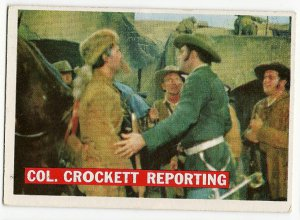 # 51 (Orange Back) Col. Crockett Reporting - 1956 Topps Davy Crockett
