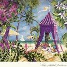 Seriolithograph Print FANTASY ISLAND Fine Art Signed by Sharie Hatchett Bohlmann COA