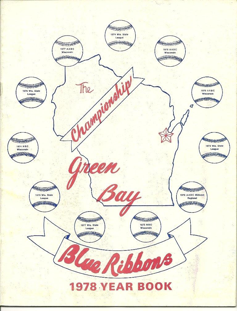 1978 Green Bay Blue Ribbons Year Book