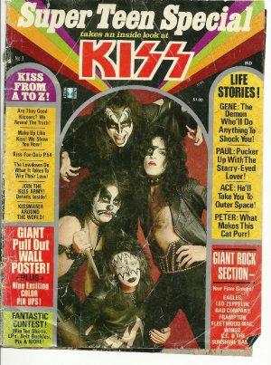 Vintage Kiss Super Teen Special Rock Fan Magazine No. 1 November 1977