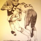 Roland Harper Chicago Bears Shell Oil Drawing NFL 1981