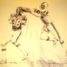 Jimmie Giles Tampa Bay Buccaneers Shell Oil Drawing NFL 1981