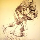 Lee Roy Selmon Tampa Bay Buccaneers Shell Oil Drawing NFL 1981