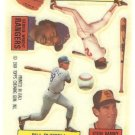 1984 Topps Rub Downs #21 Steve Garvey / Jerry Remy / Bill Russell / George Wright