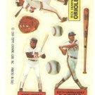 1984 Topps Rub Downs #5 Wade Boggs / Rick Dempsey / Keith Hernandez