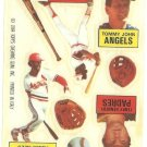 1984 Topps Rub Downs #28 Tommy John / Terry Kennedy / Eddie Murray / Ozzie Smith