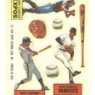 1984 Topps Rub Downs #11 Gary Carter / Phil Garner / Ron Guidry