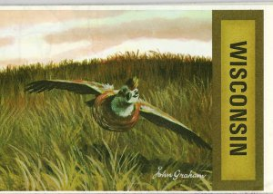 1969 Foldout Map of Wisconsin Partridge NICE