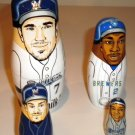 2009 Milwaukee Brewers Nesting Dolls (Hardy, Hall, Fielder, Weeks)