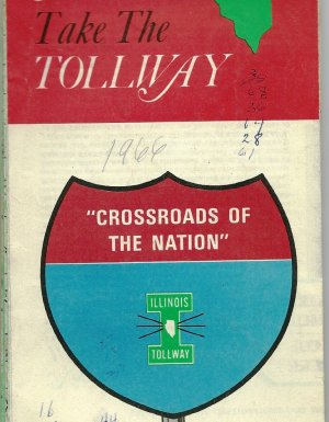 1966 Foldout Map of the Illinois tollway
