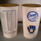 (2) Milwaukee Brewers 1984 Schedule Cups United Artist Theatre