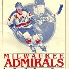 Milwaukee Admirals 1983-84 Official Program w/ Insert