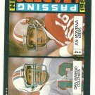 1985 Topps Football Card # 192 JOE MONTANA / DAN MARINO Passing Leaders