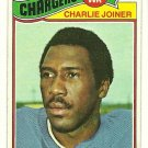 1977 Topps football #167 CHARLIE JOINER San Diego Chargers