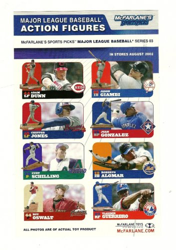 mcfarlane's sports picks Major League Baseball 2003 Action Figures Number 06390