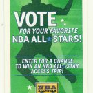2004 NBA All Star Game Ballot Basketball Card National Basketball Association