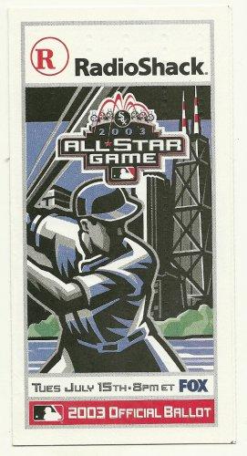 2003 MLB All Star Game Ballot Baseball Card Major League Baseball