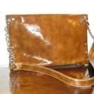Rusty Brown Patent Leather clutch handbag