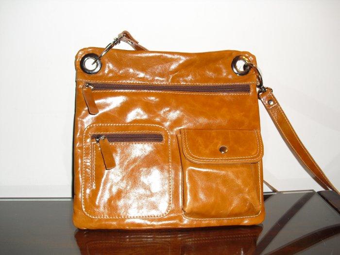 Sofismart Rusty Brown leather crossbody