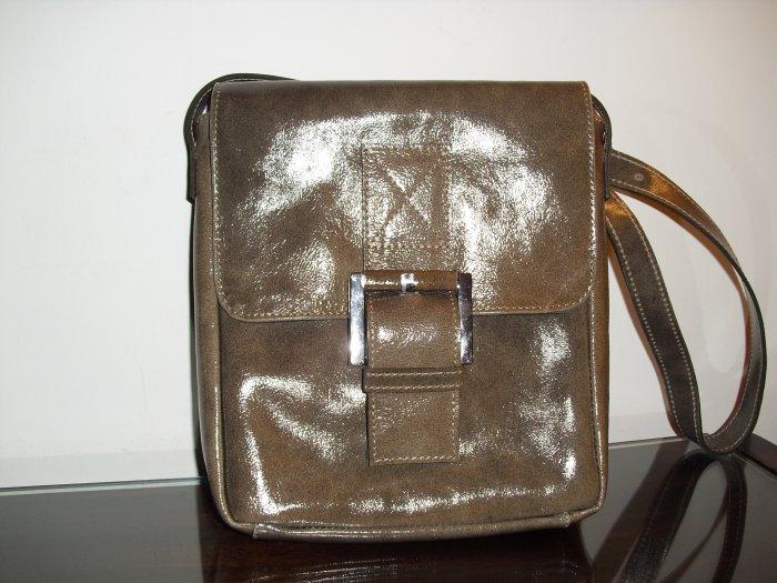 SofiSmart Tan compact leather crossbody
