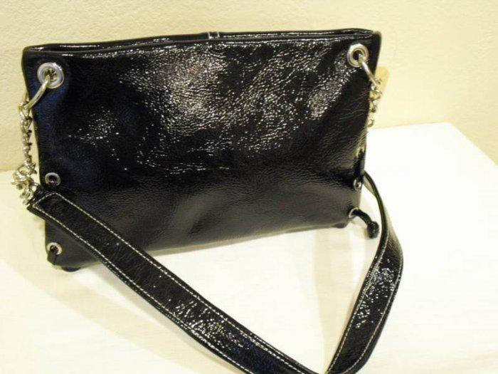 Sofismart Black Patent leather clutch