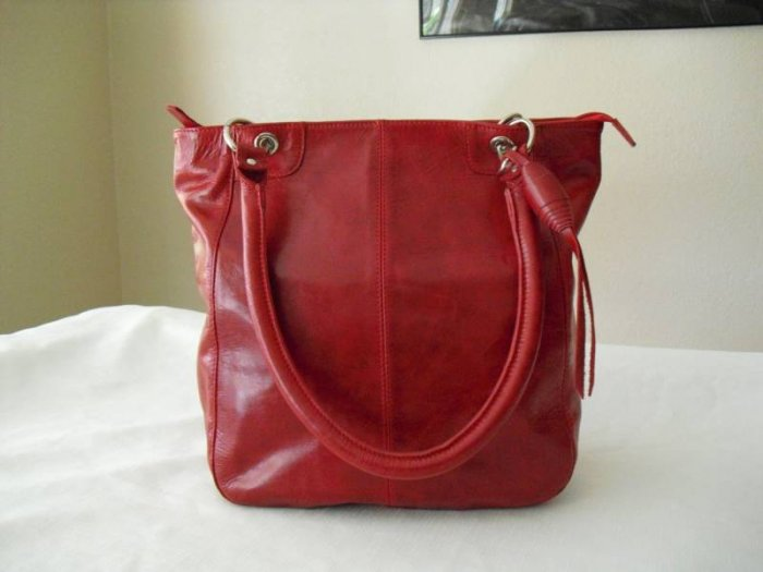 Red Soft leather Tote