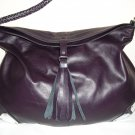 Purple Hobo Leather Handbag with metalic details