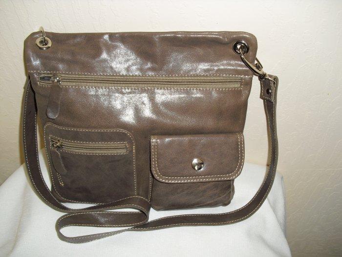 SofiSmart Tan leather crossbody