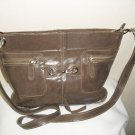 Tan leather shoulder handbag
