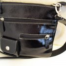 Black Patent Argentine Leather Shoulder Bag