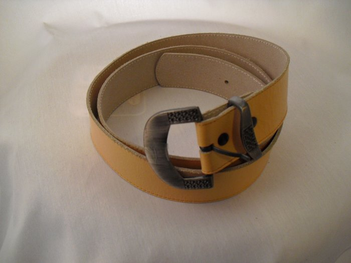 cognac cowhide leather belt