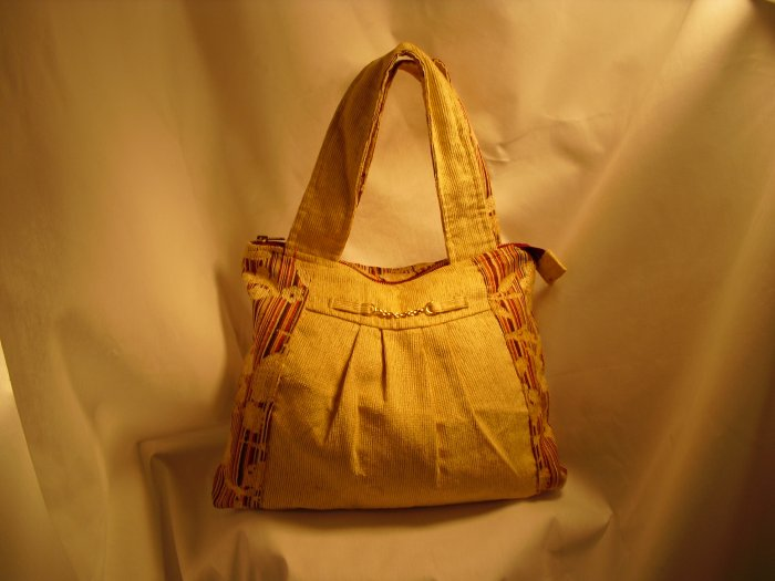Yellow Chenille Handbag