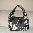 Black & Ivory Chenille Bag