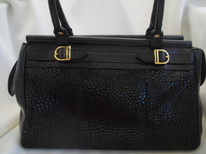 Argentina Black leather Satchel